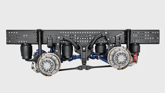 Фото №3 - Зачем грузовики поднимают задние колеса