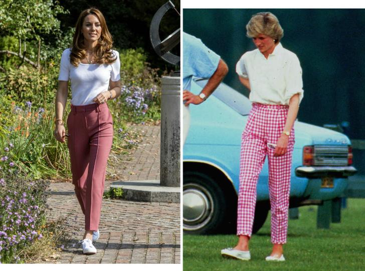 Фото №1 - Вдохновляясь Дианой: герцогиня Кейт и ее новый модный реверанс принцессе Уэльской