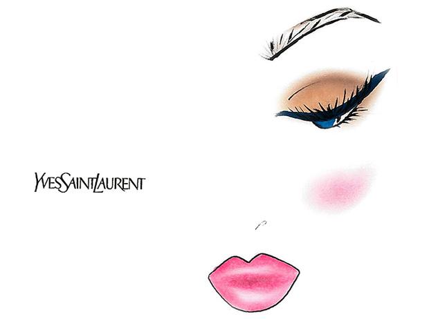 Фото №3 - Праздник зовет: три варианта макияжа по цвету глаз от визажиста YSL