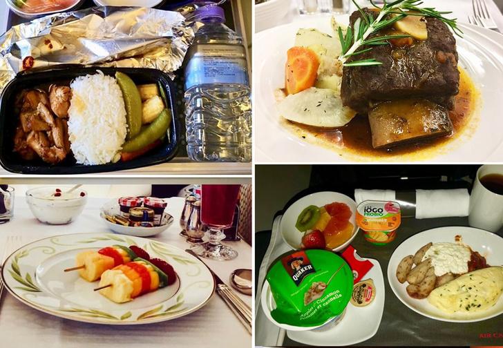 Фото №1 - Чем кормят пассажиров разные авиакомпании (41 набор)