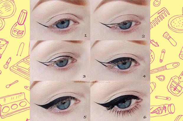 Фото №1 - Beauty Hack: Как нарисовать ровные стрелки