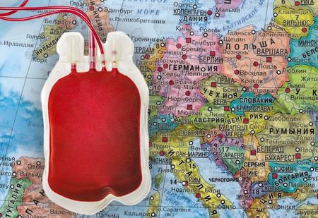 Карта. Люди с какой группой крови преобладают в различных странах