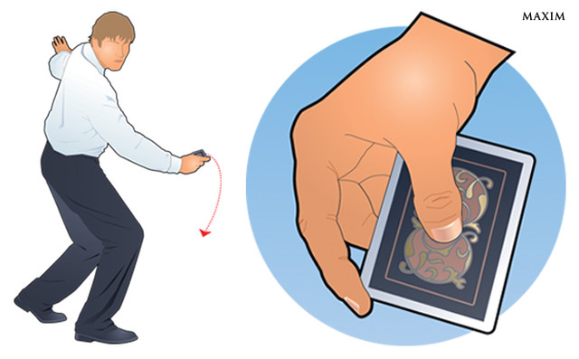 Фото №1 - Мини-трюк: как метнуть игральную карту