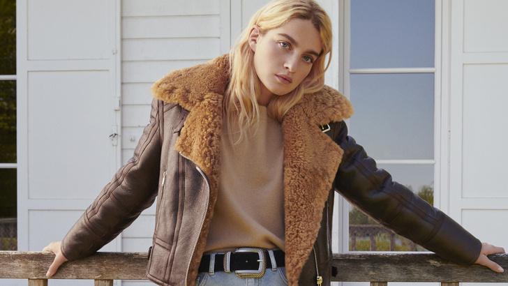 Фото №1 - «Нет» пуховику: три стильных лука с дубленкой, эко-шубой и пальто на зиму 2021