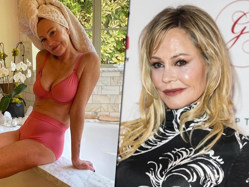 63-летняя Мелани Гриффит в одном нижнем белье блеснула стройным, но дряблым телом с пигментными пятнами