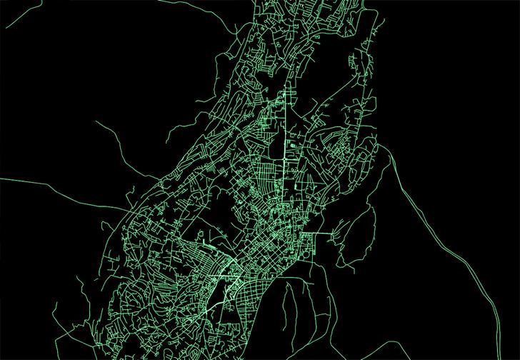 Фото №1 - Сайт дня: преврати свой город в карту, на которой будут только дороги