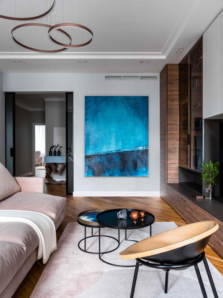 Фото №6 - Московская квартира 100 м² в пастельных тонах