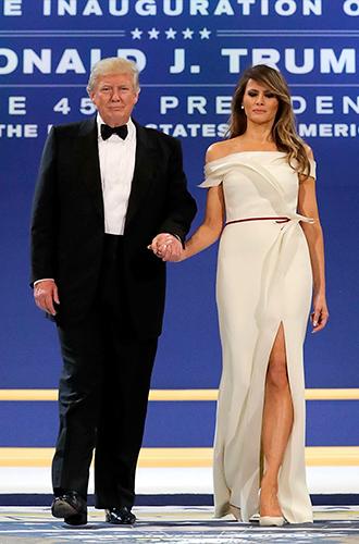 Фото №11 - Рождение fashion-звезды: Мелания Трамп на инаугурации