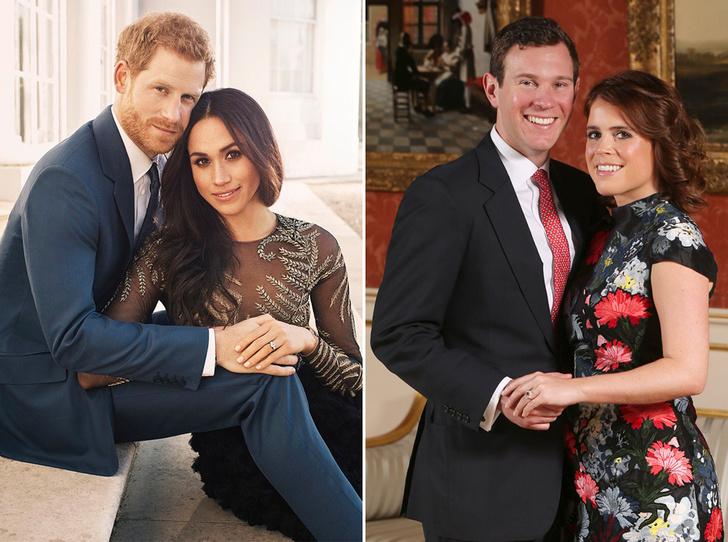 Фото №1 - 6 знаковых различий в помолвочных фото принцессы Евгении с Джеком и принца Гарри с Меган