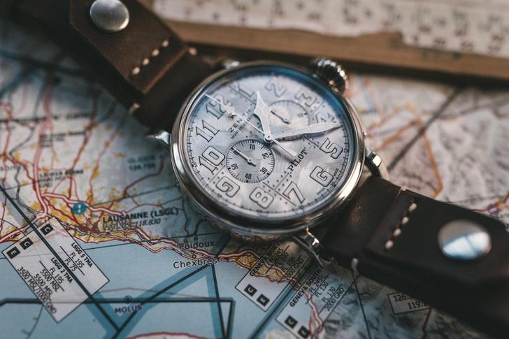 Фото №1 - Серебряный хронограф Zenith, вдохновленный авиацией