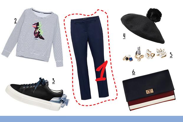 Фото №1 - С чем носить классические брюки