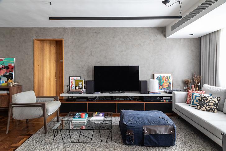 Фото №5 - Бетонная квартира с розовыми акцентами в Сан-Паулу