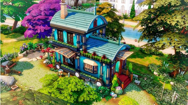 Фото №27 - 35 уютных домиков для «Симс 4», в которых ты сама захочешь поселиться