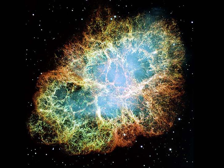 NASA, ESA, J. HESTER AND A. LOLL (ARIZONA STATE UNIVERSITY)Крабовидная туманность, остаток сверхновой
