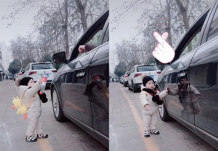 Фото №1 - Ребенок вернул бутылку водителю, выбросившему ее из окна машины (видео)