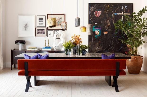 Фото №1 - Модная деталь: банкетки и скамейки в столовой