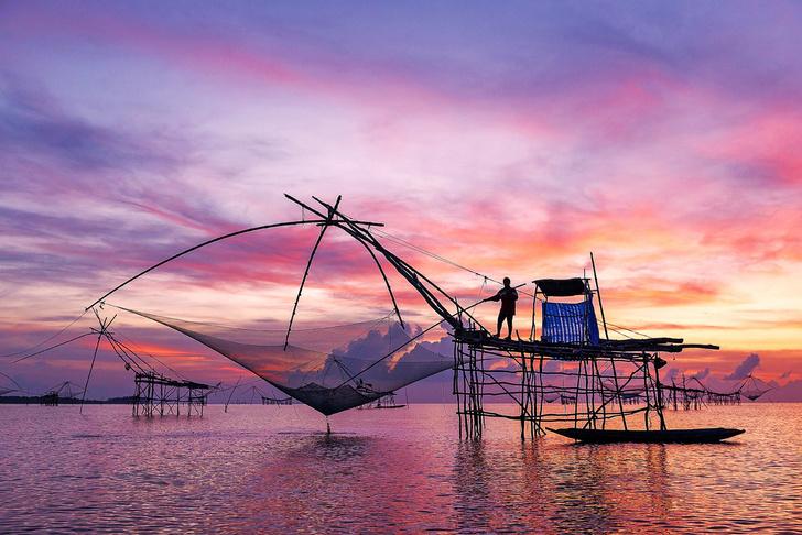 Фото №1 - Один кадр: Таиланд. Рыболовная платформа на сваях