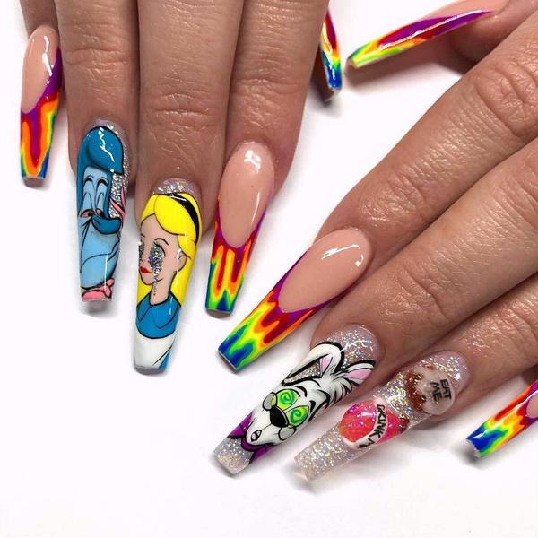 Фото №9 - Позалипать и вдохновиться: 45 крутых идей маникюра для длинных ногтей 💅