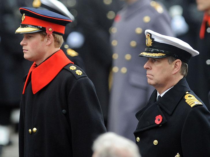 Фото №1 - Недостойное поведение: почему из-за Гарри и Эндрю никто не смог надеть военную форму на похороны принца Филиппа
