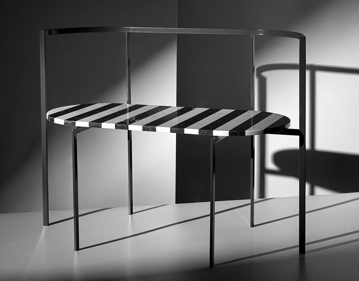 Фото №9 - Коллекция мебели Ego из мрамора и металла