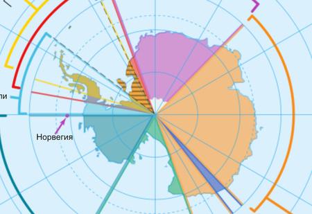 Карта: какая страна на какую часть Антарктиды претендует