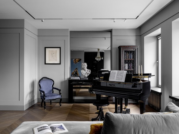 Фото №1 - Квартира с роялем на Патриарших прудах в Москве