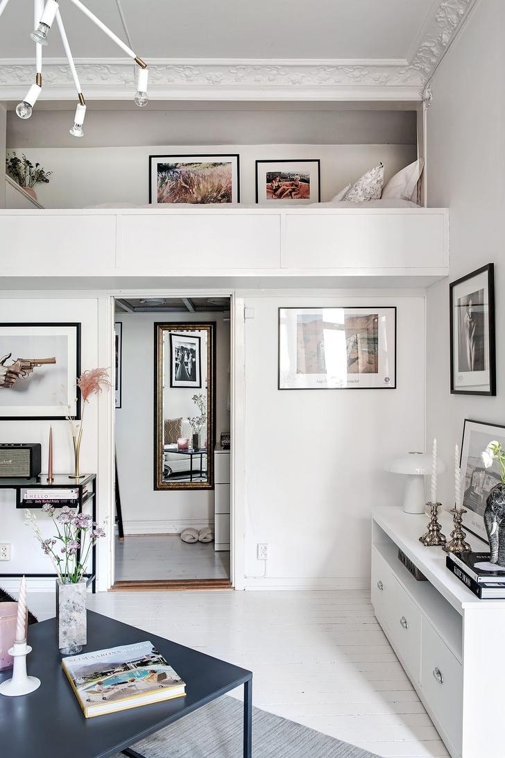 Фото №10 - Маленькая скандинавская квартира со спальней на антресоли