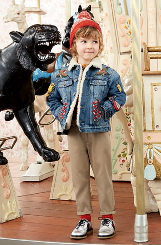 Фото №9 - Золотая карусель: лукбук осенне-зимней детской коллекции Gucci 2016/17