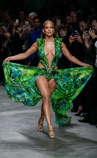 И на показе Versace в сентябре 2019 года