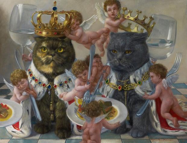 Фото №1 - Живопись эпохи ренессанса, но с котами (галерея)