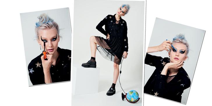 Фото №13 - Как быть стильной бунтаркой на учебе: 4 образа от блогера Леры Долговой