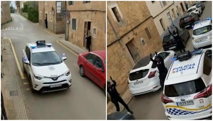 Фото №1 - Испанские полицейские развлекают сидящих на карантине (видео)