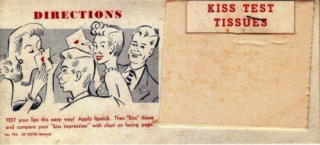 Фото №2 - Определи характер по отпечатку губной помады: довольно обидный тест для женщин из 1948 года