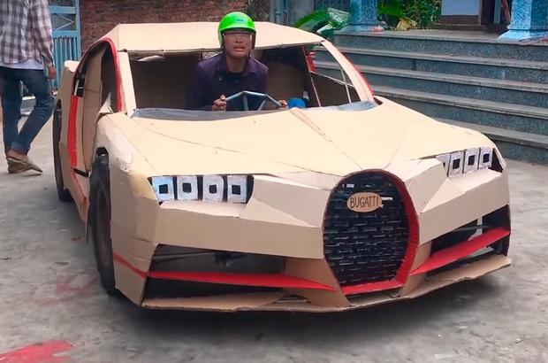 Фото №1 - Тюнеры построили картонный Bugatti