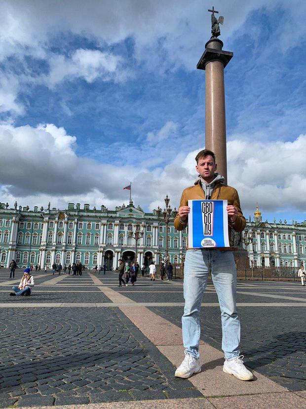 Фото №14 - В Москве началась серия одиночных пикетов в поддержку осуждённого на 3,5 года Павла Устинова (фото и видео)