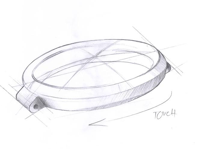 Эскиз к часам с сенсорной технологией Rado eSenza Touch