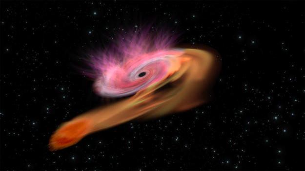 Фото №1 - Может ли «насытиться» черная дыра?