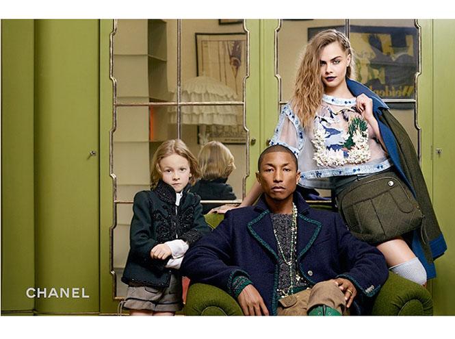 Фото №2 - Кара Дельвинь и Фаррелл Уилльямс в рекламной кампании Chanel