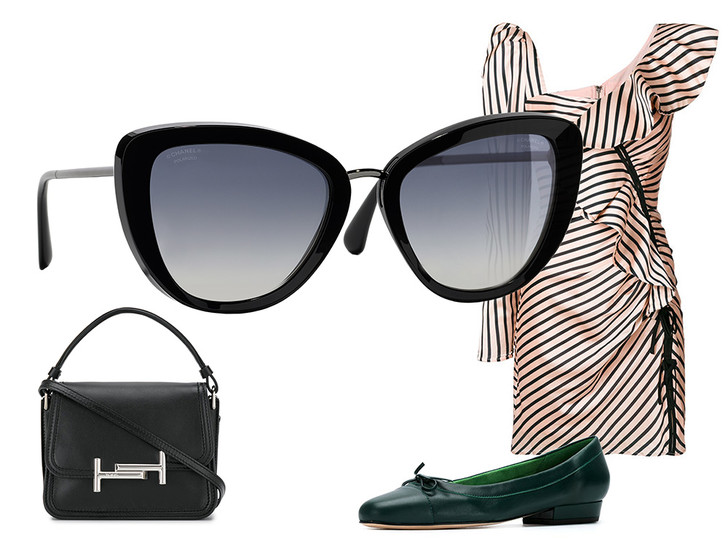 Фото №43 - Победа по очкам: 5 модных образов с главным летним аксессуаром