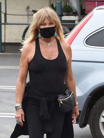 Фото №2 - Видео дня: обрюзглая Голди Хоун в тотальном облегоне и без белья