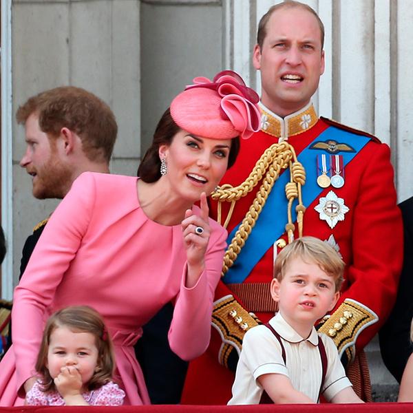 Фото №1 - Трогательные фото детей герцогини Кембриджской на празднике Trooping The Colour