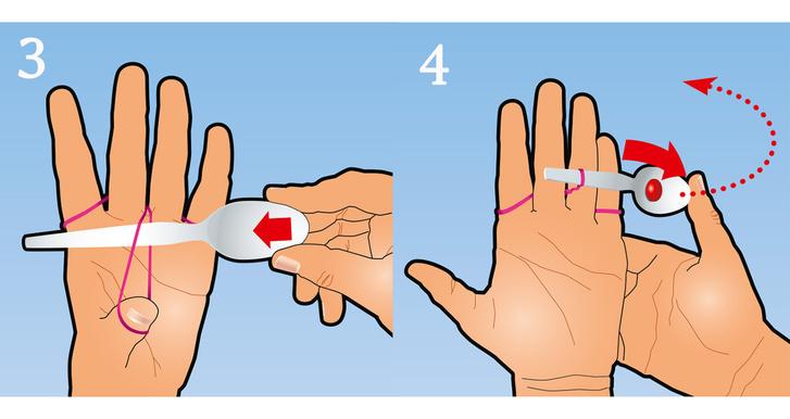 Фото №2 - Как сделать стрелялку из резинки и пластиковой ложки