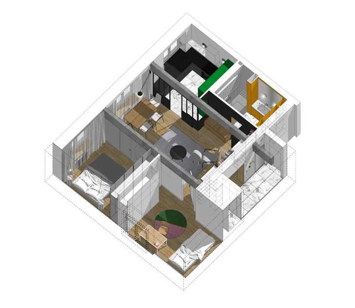 Фото №17 - Color Blocking: яркая квартира 63 м² в сталинке