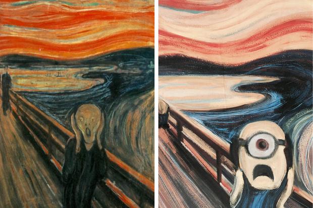 Фото №2 - Миньоны попали на картины известных художников