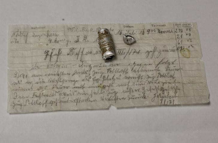 Фото №1 - Во Франции найдено 100-летнее послание, отправленное голубиной почтой