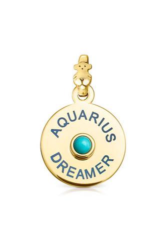 Подвеска vermeil TOUS Horoscopes Водолей с бирюзой