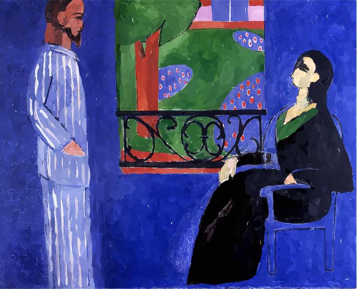 Картина Анри Матисса «Разговор»