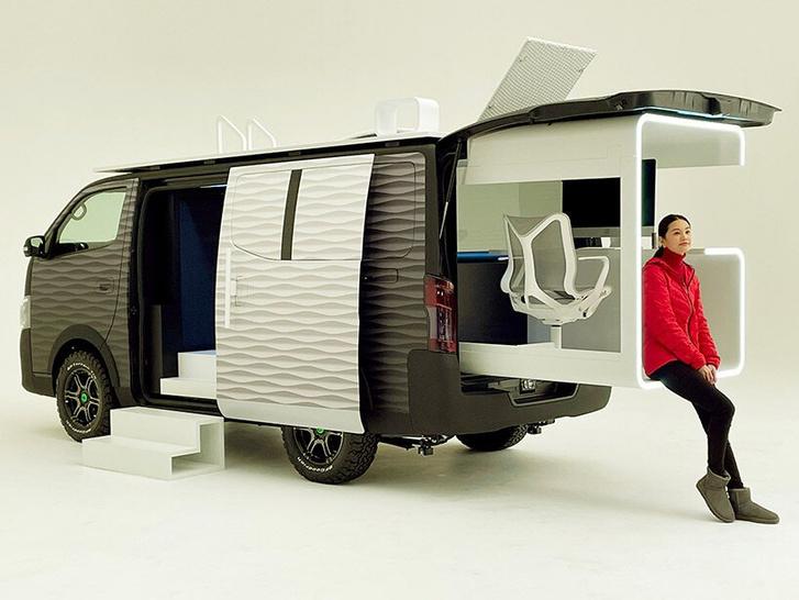 Фото №1 - Кабинет на колесах: концепт передвижного офиса Nissan