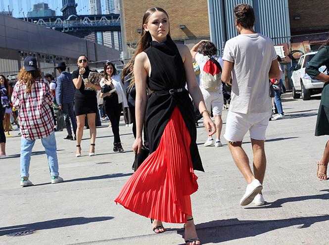 Фото №5 - Неделя моды в Нью-Йорке: streetstyle пятого дня