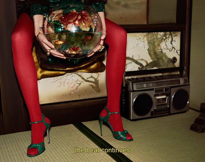 Фото №17 - Японское приключение Петры Коллинс и Ко: новая кампания Gucci